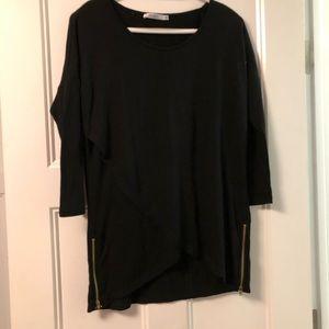 3 for $15 Black Asymmetrical Top